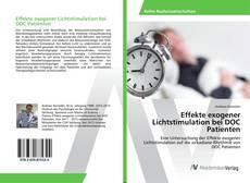 Buchcover von Effekte exogener Lichtstimulation bei DOC Patienten