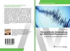 Die praktische Anwendung von Helmholtz-Resonatoren kitap kapağı