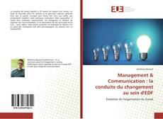 Management & Communication : la conduite du changement au sein d'EDF的封面