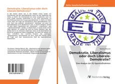Demokratie, Liberalismus oder doch Liberale-Demokratie? kitap kapağı