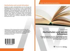 Bookcover of Hochschulen und soziale Schranken