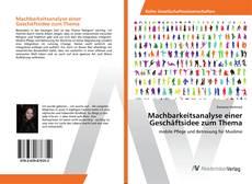 Bookcover of Machbarkeitsanalyse einer Geschäftsidee zum Thema