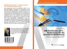 OIB-Richtlinien 2011 - Bedeutung für die Immobilienbewertung kitap kapağı