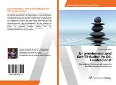 Unternehmens- und Konfliktkultur im Oö. Landesdienst kitap kapağı