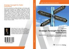 Buchcover von Strategic Foresight for Public Institutions