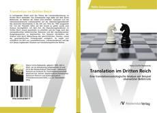 Translation im Dritten Reich kitap kapağı
