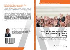 Copertina di Stakeholder Management in the mining and metal industry