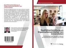 Bookcover of Qualitätsentwicklung an Organisationseinheiten von Universitäten