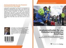 Buchcover von Analysemethoden für das Potential terroristischer Anschläge