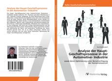 Analyse der Haupt-Geschäftsprozesse in der Automotive- Industrie kitap kapağı