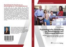 Couverture de Psychologische Forschung zur Bewältigung von Führungsproblemen