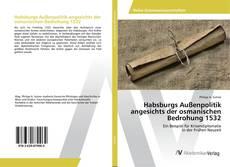 Capa do livro de Habsburgs Außenpolitik angesichts der osmanischen Bedrohung 1532