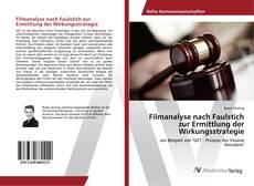 Обложка Filmanalyse nach Faulstich zur Ermittlung der Wirkungsstrategie