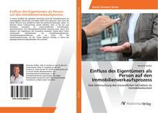 Bookcover of Einfluss des Eigentümers als Person auf den Immobilienverkaufsprozess