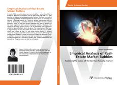 Bookcover of Empirical Analysis of Real-Estate Market Bubbles