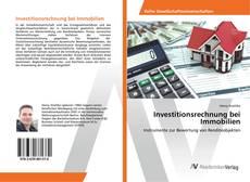 Couverture de Investitionsrechnung bei Immobilien