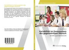 Buchcover von Variabilität im Genussystem des gegenwärtigen Deutsch