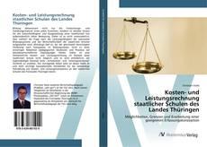 Buchcover von Kosten- und Leistungsrechnung staatlicher Schulen des Landes Thüringen