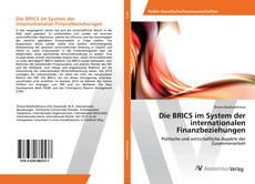 Bookcover of Die BRICS im System der internationalen Finanzbeziehungen