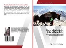 Bookcover of Nachhaltigkeit der Entwicklungshilfe