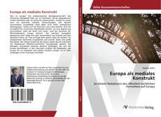 Capa do livro de Europa als mediales Konstrukt