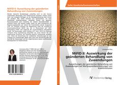 Bookcover of MiFID II: Auswirkung der geänderten Behandlung von Zuwendungen