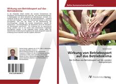 Portada del libro de Wirkung von Betriebssport auf das Betriebsklima