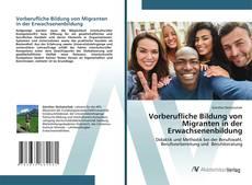 Bookcover of Vorberufliche Bildung von Migranten in der Erwachsenenbildung