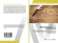 Balzac-Rezeption in Deutschland的封面