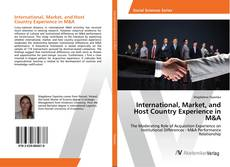 Bookcover of International, Market, and Host Country Experience in M&A