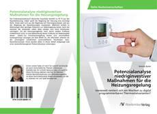 Buchcover von Potenzialanalyse niedriginvestiver Maßnahmen für die Heizungsregelung