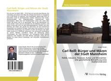 Portada del libro de Carl Reiß: Bürger und Mäzen der Stadt Mannheim