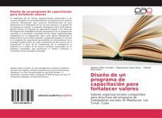 Capa do livro de Diseño de un programa de capacitación para fortalecer valores