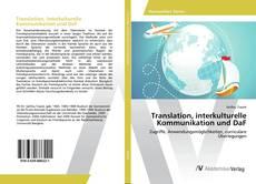 Borítókép a  Translation, interkulturelle Kommunikation und DaF - hoz