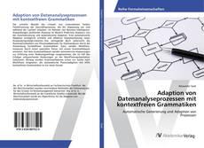 Buchcover von Adaption von Datenanalyseprozessen mit kontextfreien Grammatiken