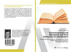 Capa do livro de Kanonisierung und Aktualität von Paul Gerhardts Kirchenliedern