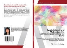 Portada del libro de Persönlichkeit und Motivation: Ein Entwicklungsscreening für Horte