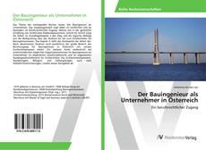 Buchcover von Der Bauingenieur als Unternehmer in Österreich