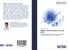 Bookcover of Wpływ rekomendacji na kursy akcji