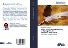 """Bookcover of Obraz Drugiej Rzeczpospolitej w """"Pamiętnikach""""      Hermana Liebermana"""