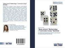 """Buchcover von """"Biała strona"""" Mallarmégo   i """"ciemność mowy"""" Norwida"""
