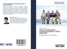 Bookcover of Analiza efektywności inwestycyjnej OFE w latach 2004-2010