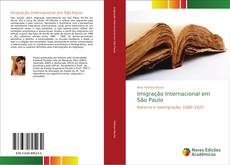 Capa do livro de Imigração Internacional em São Paulo