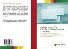 Portada del libro de Gerência de recursos humanos no desenvolvimento de software