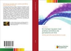 Capa do livro de Em tempo (quase) real: análise semiótica do jornalismo on-line
