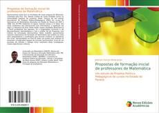 Propostas de formação inicial de professores de Matemática kitap kapağı