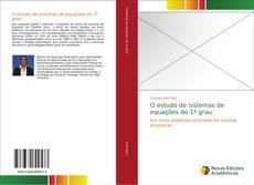 Bookcover of O estudo de sistemas de equações do 1º grau: