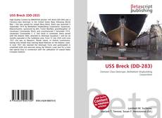 Portada del libro de USS Breck (DD-283)