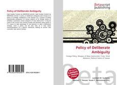 Обложка Policy of Deliberate Ambiguity
