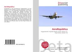 Capa do livro de AeroRepública